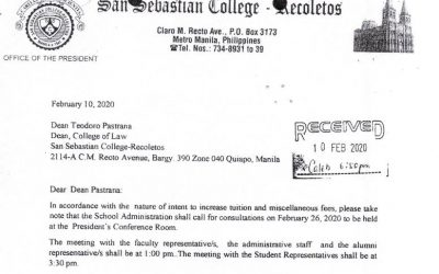 Annex G Notice of meeting to the Dean of College of Law